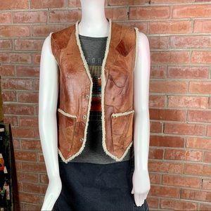 Vintage I.D.M Western Patchwork Leather Vest